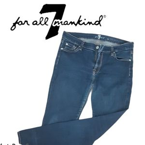 7 For All Mankind The Skinny Dark Jeans Size 31